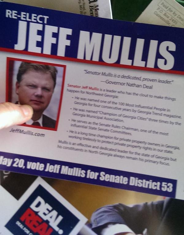 Jeff Mullis 2014 Mailer Inside