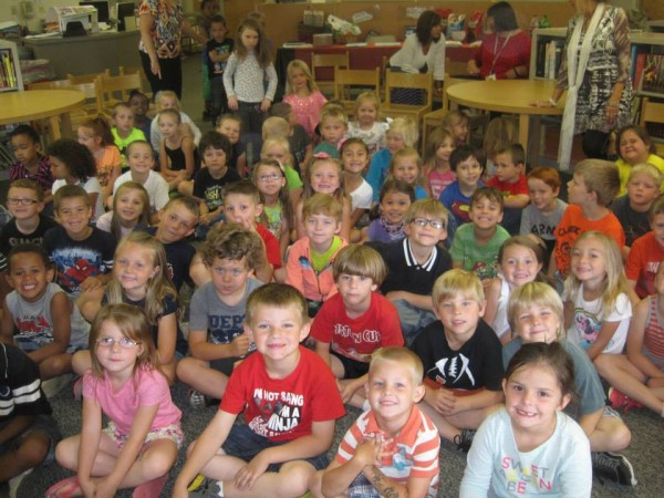 North LaFayette Students Visiting Library Summer Reading Program