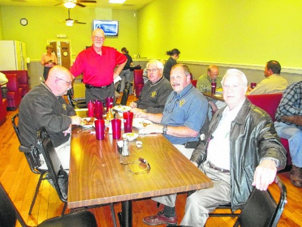 Walker Co Sheriff's Office Leaders at Charlie's Cafe