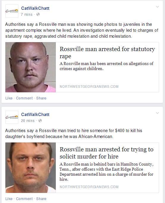 Multiple Rossville Arrests