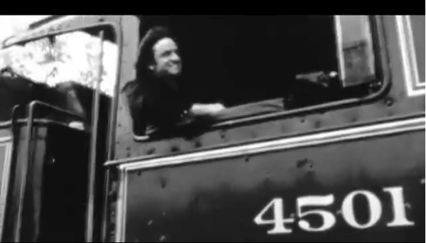 Johnny Cash with Southern 4501 Locomotive / Railroad Museum