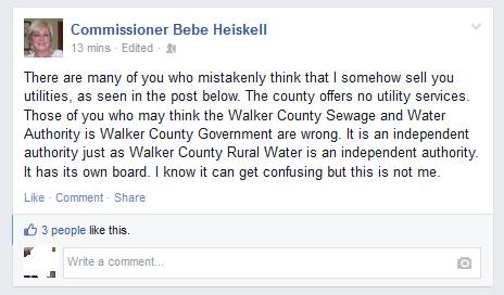 Heiskell Water Board Denial
