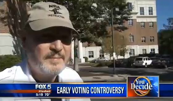 GA Voter Wearing NRA Hat