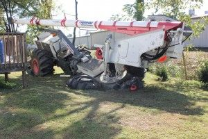 Tractor Stuck in Septic Tank