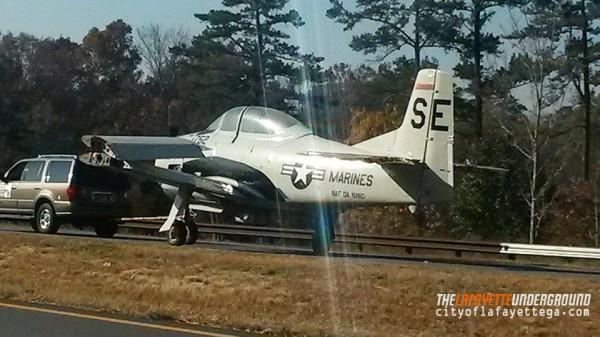 Airplane Towed Through Chickamauga