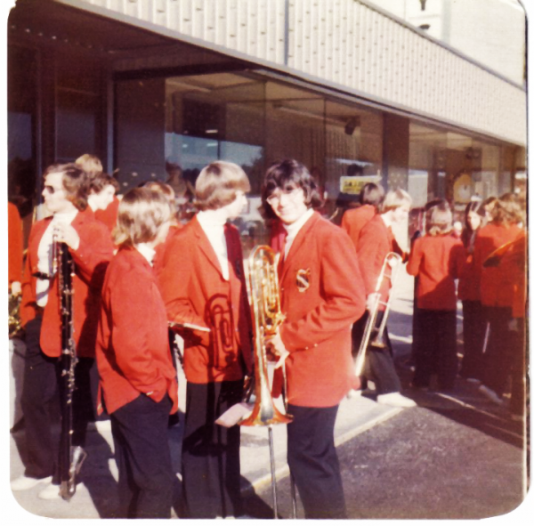 Abney's 1975 Downtown With LHS Marching Band