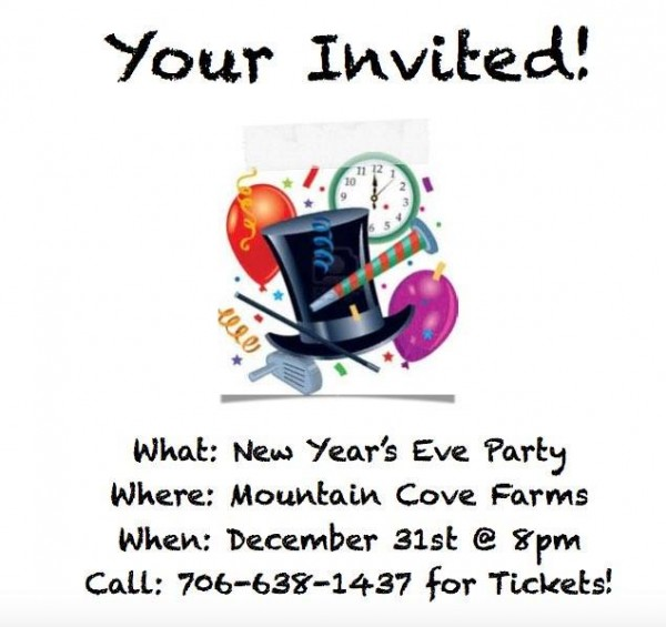 MCF 'Your Invited' New Years Party Ad