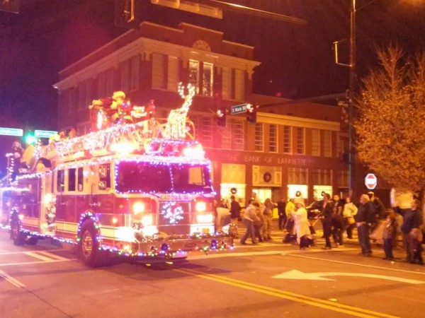 2014 Christmas Parade Fire Truck
