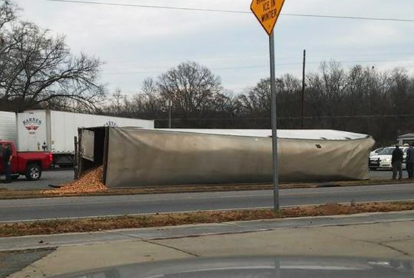 Semi Trailer Accident on South Main December 3rd