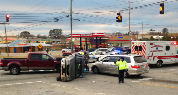 Wreck on North Main December 8