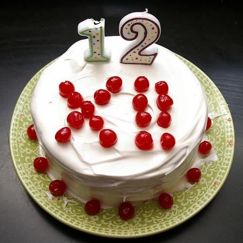 12 Candle Cake