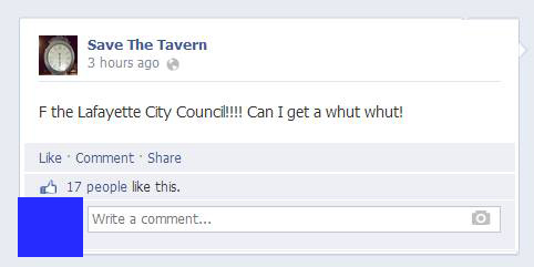 Save the Tavern F The Council
