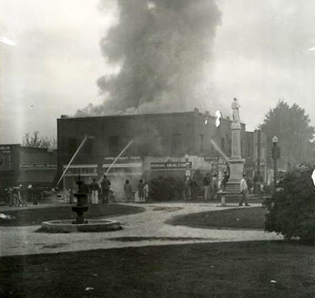 Downtown Building Fire / 1930's