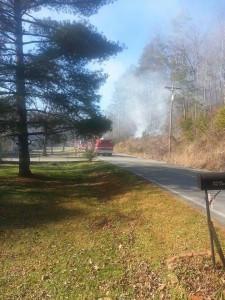 January 18 Mill Wee Hollow Rossville Brush Fire