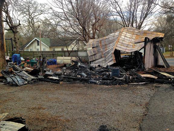 West Main Garage Fire