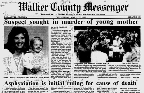 Walker Co Messenger August 23 1989 Murder of Nikia Gilbreath