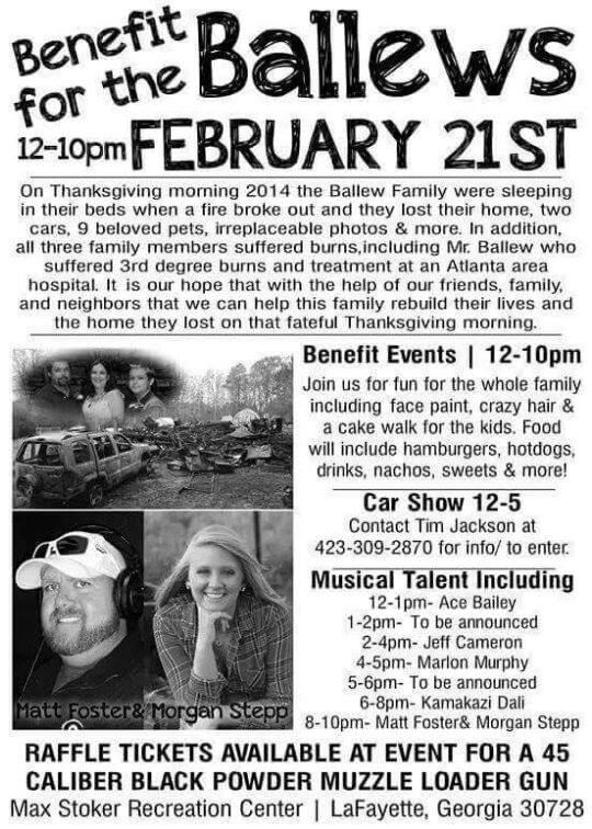 Benefit for Ballew Family