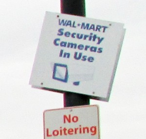 Walmart Parking Lot Cameras In Use