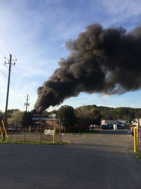 Berryton Recycling Plant Fire / Summerville