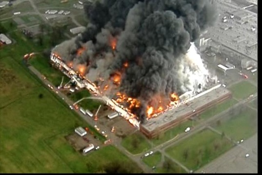 GE Appliance Park Kentucky Fire
