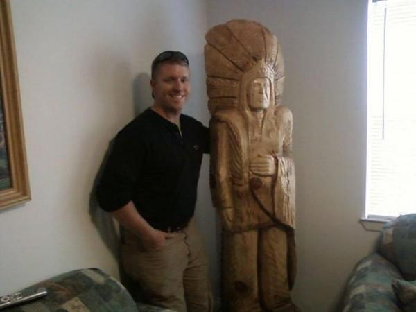 Stolen Carved Indian Sculpture