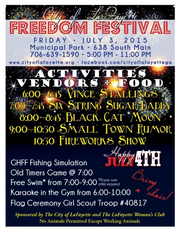 2015 LaFayette Freedom Festival