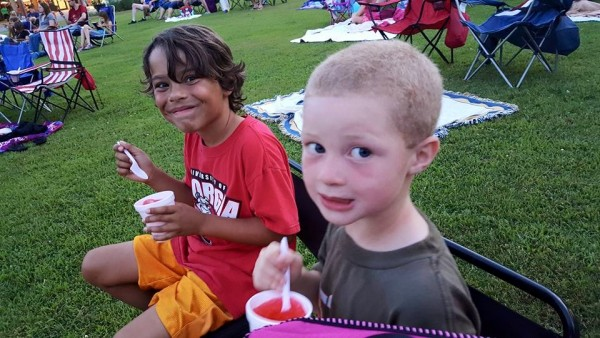 Boys at Movies in the Park June 20th