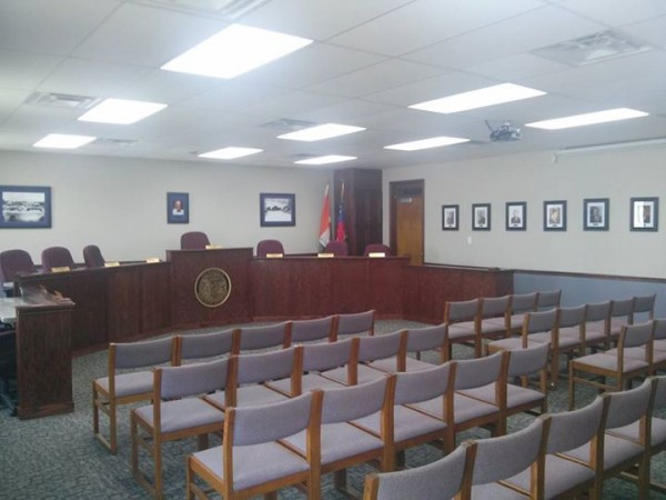 Remodeled City Council Chamber / Facebook