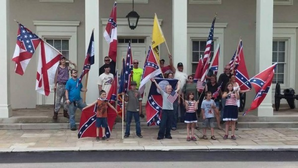 July 4th Chickamauga Battlefield Rebel Flag Rally