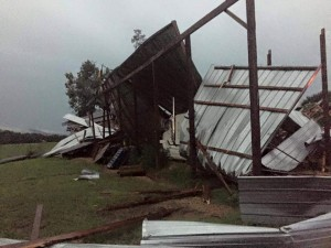 July 14 Storm / West Armuchee Barn
