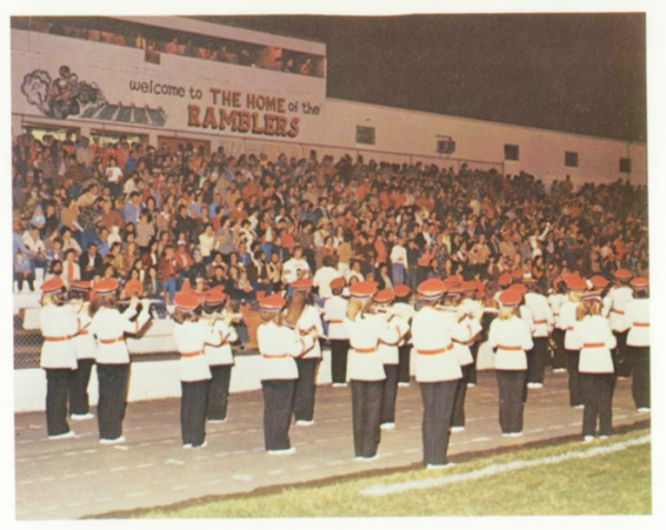 LHS Fieldhouse / Rambler Band / 1980 LHS Yearbook
