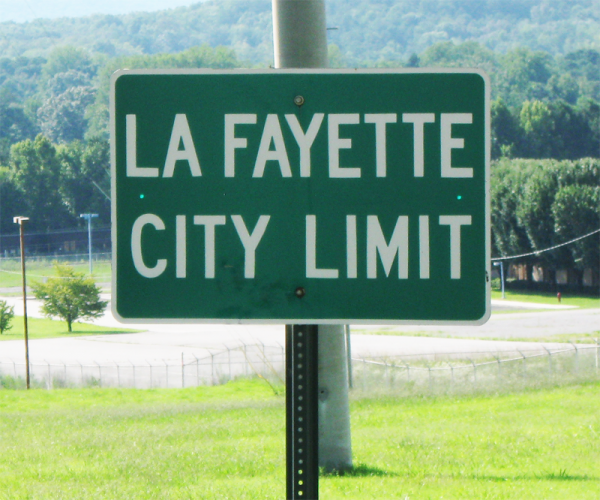 LaFayette City Limits Sign