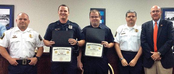 LPD Officers Honored - Dusty Coker & Nick Terry / Walker Co Messenger