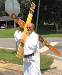 Rodney Summerford Carrying Cross in LaFayette