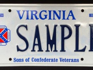 Virginia Rebel Flag Tag