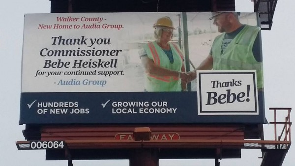 Bebe Audia Reelection Billboard