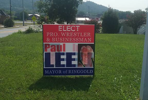Paul Lee for Mayor Sign in Ringgold