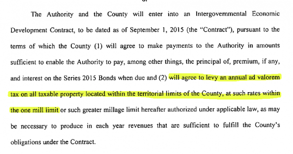 WCDA Bond Proposal Page 5 Excerpt
