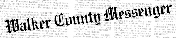 Walker County Messenger Masthead