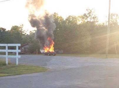 Wreck / Stoleman Rd Car Fire 09-17-15 / The Summerville News