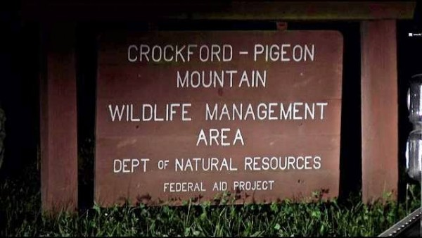 Crockford-Pigeon Mountain WMA Sign