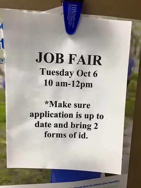Walmart Job Fair Sign