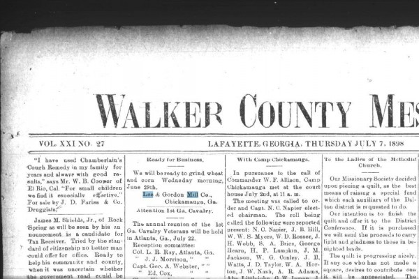 Walker County Messenger / Scanned Indexed Paper