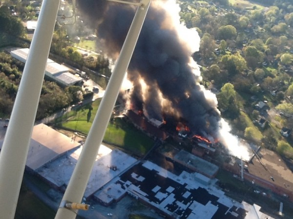 Barwick Mill Fire Aerial Shot / Randi Butler Richardson