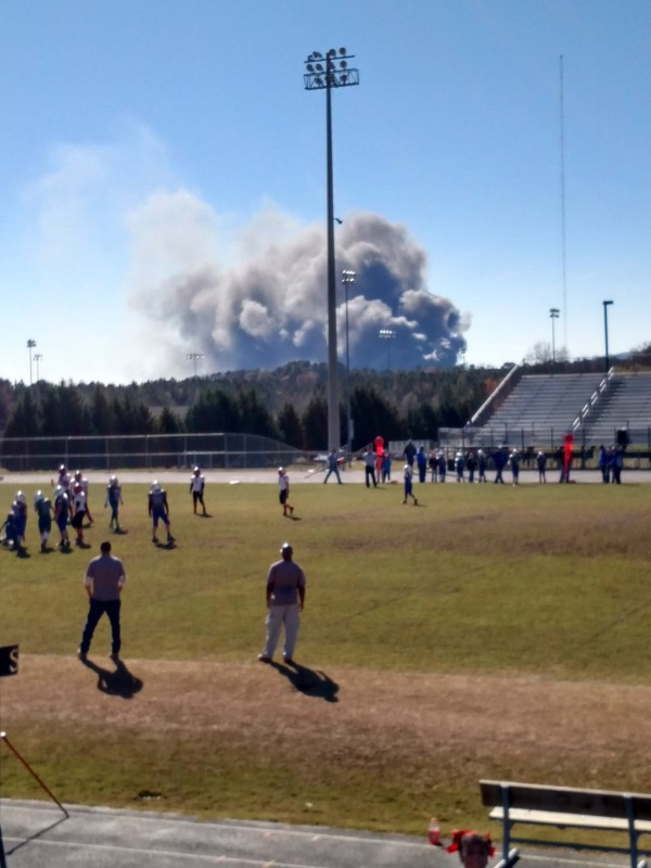 Barwick Fire as Seen from LHS