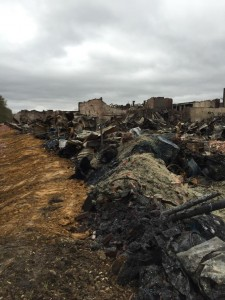 Barwick Fire Aftermath: Debris