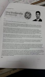 Electrolux Merger Cancellation Letter - GE
