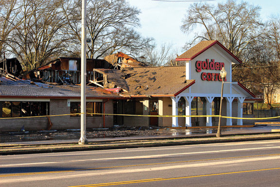 Fort O Golden Corral Fire Aftermath / Catoosa County News