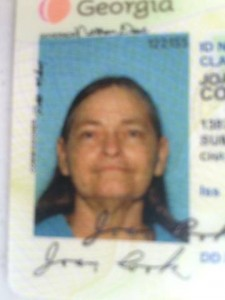 Missing Person Joan Cook