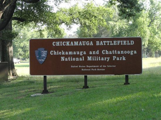 Chickamauga Battlefield Entrance Sign